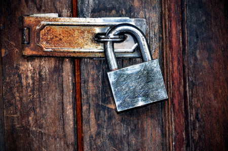 lock door with key  Stock Photo