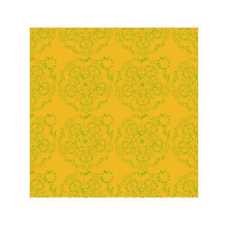 ornamental background: Yellow ornamental background