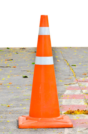 Traffic cone on a parking Stock Photo