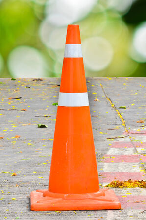 divert: Traffic cone on a parking Stock Photo