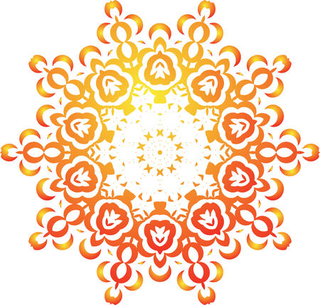 Abstract floral kaleidoscope Vector