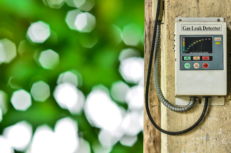 gas leak detector on nature background