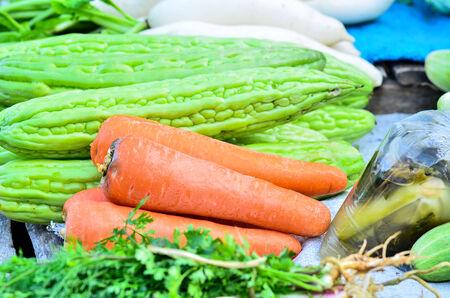 Carrots in market photo