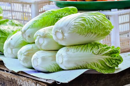 Chinese cabbage in market