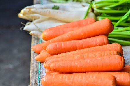 carot: fresh carot on a market Stock Photo