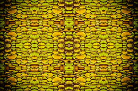 yellow stone: slate yellow stone wall surface background in vintage light