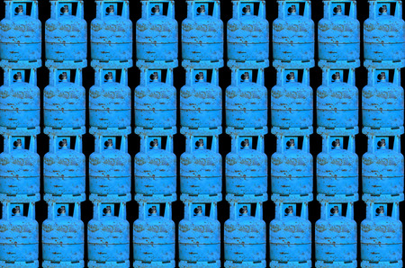 inflammable: Many gas cylinder background