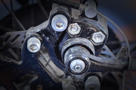 discard: Bicycle disc brake in vintage light