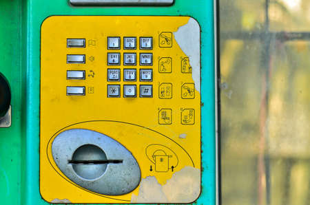 payphone: Buttons street payphone