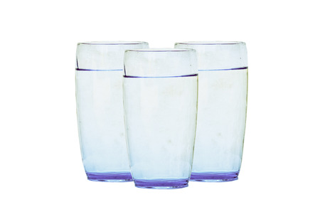 included: water glass isolated with clipping path included on white background