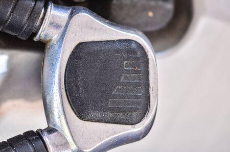 lock up: close up bicycle lock