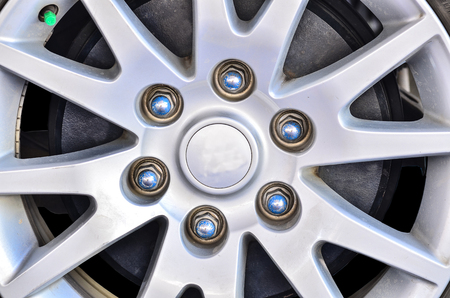 rims: Close up of rims from a sport car