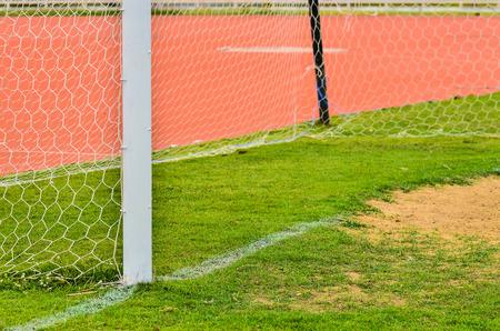 goalline: Soccer Goal Stock Photo