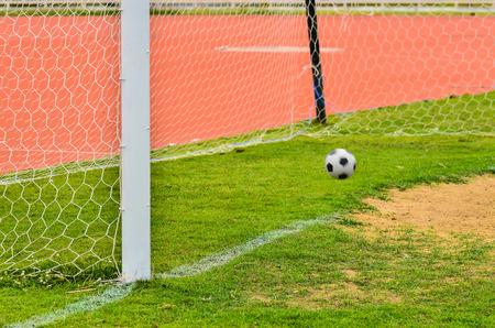 goalline: Soccer Goal and football Stock Photo