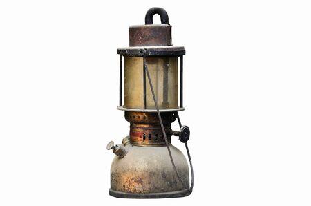 hurricane lamp: old hurricane lamp on white background