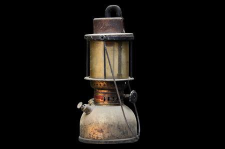 hurricane lamp: old hurricane lamp on black background