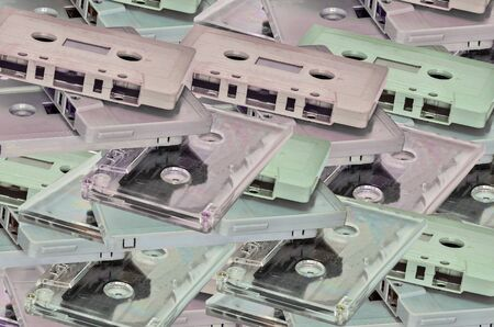analogical: Many Audio cassette and tape background