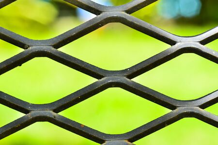 abstract metal grid pattern Stock Photo