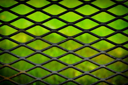 grid pattern: abstract metal grid pattern with lighting effect Stock Photo