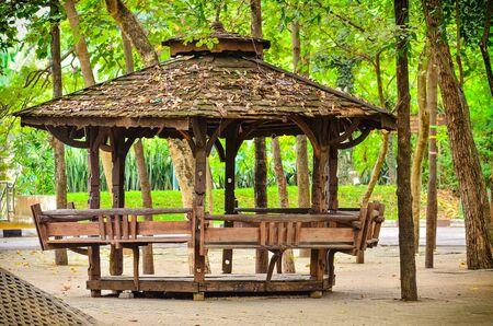 Wooden Garden Gazebo in public park