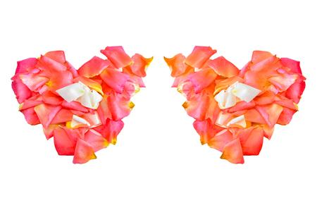 Rose hart isolate on white background Stock Photo