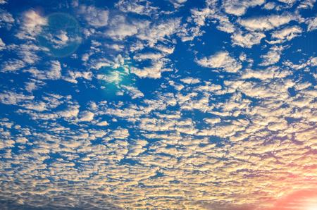 Beautiful sky clound sunset background