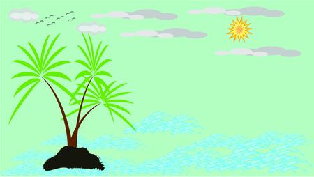 Beautiful summer background Illustration