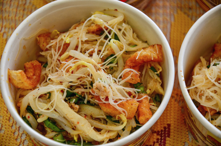 Thai food noodles in dish