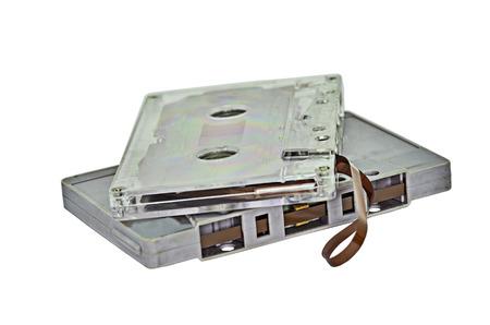 Tape cassette isolate on white background Stock Photo