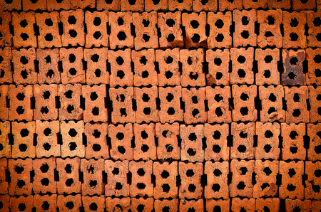 Close up Stack of brick background