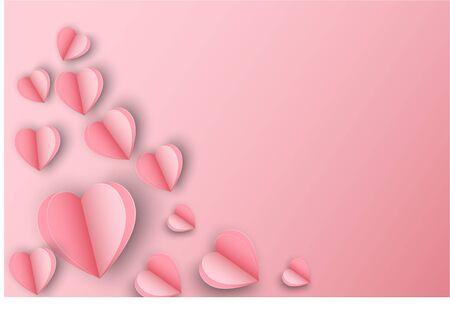 Beautiful pink hart poscard concept