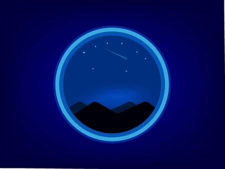 Night seen landscape view background