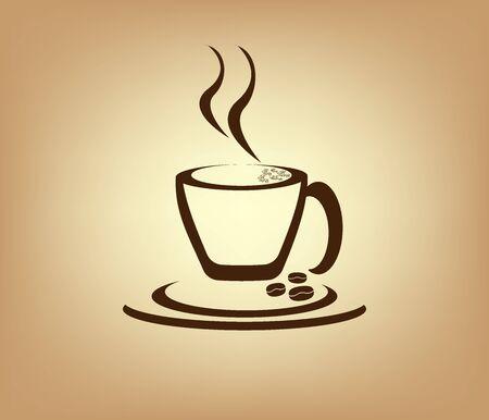 Fond de plaisir Caffe Logo Design