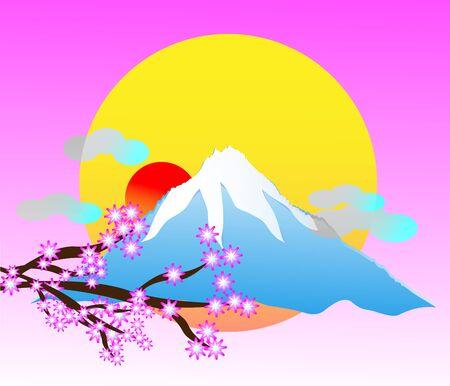 Japan fuji volcano scenery travle background