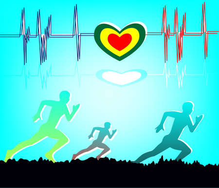 Run for lifestyle health exercise background