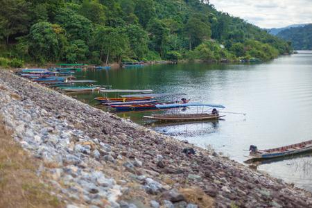 Khun Dan Prakarnchon Dam Boat countryside