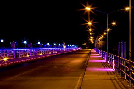 Chao Phraya Dam Chai Nat Province at night