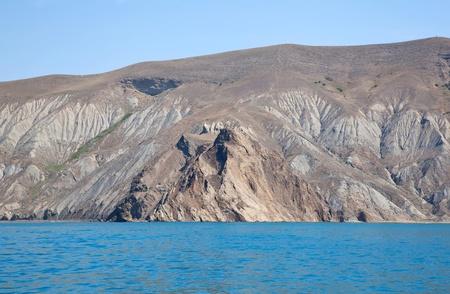 Kara Dag mountain rocks in Crimea in Ukraine photo