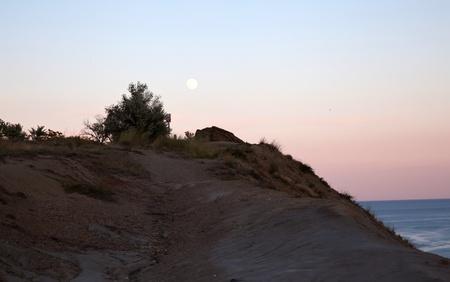 Sunset on mountain Kara Dag in Crimea in Ukraine photo
