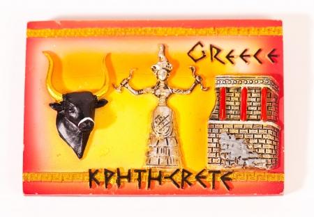 Magnet on the fridge from Crete Greece