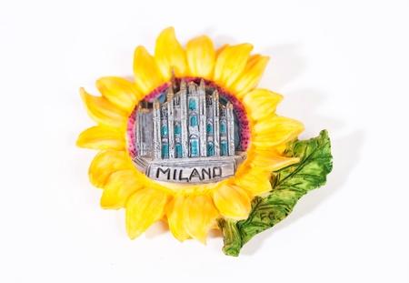 Italian magnet on the fridge from Milan