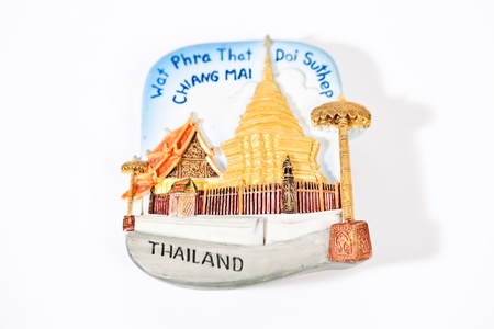 Thailand magnet on the fridge with temple Wat Phra