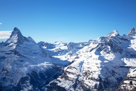 Beautiful winter landscape in Zermatt Switzerland photo
