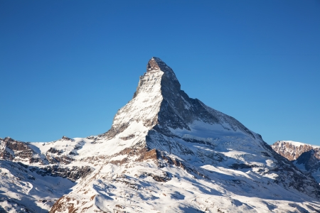 Matterhorn mountain top in Switzerland photo
