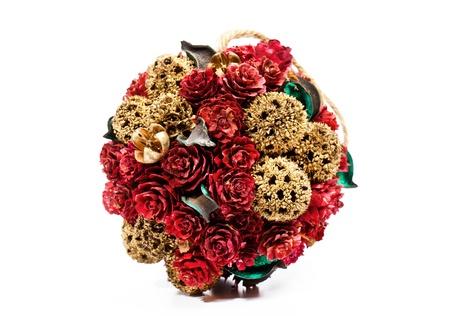 Christmas roses decoration on white background Stock Photo - 15311665
