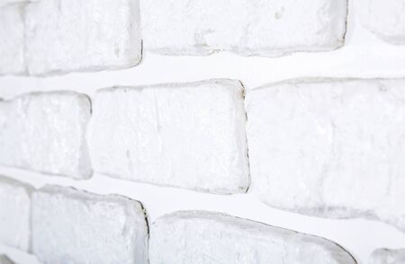 White painted brick wall texture Stock Photo
