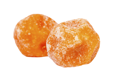 Dried sweet tangerine fruits isolated Stock Photo