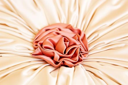 Artificial fabric rose decoration close up Stock Photo