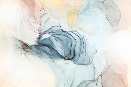Abstract alcohol ink fluid art painting