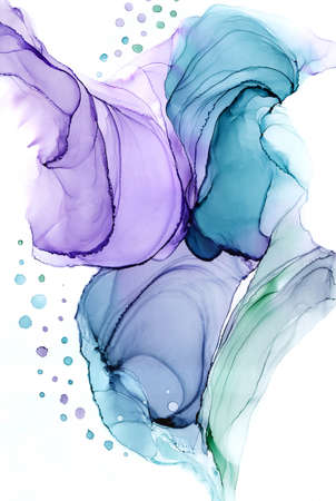 Abstract alcohol ink art hand drawing background composition Stok Fotoğraf